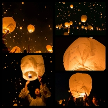 5PCS DIY Paper Lantern Chinese Paper Lantern Wishing Balloon Sky Lanterns Paper Lanterns Christmas/Wedding Party Decorations(China)