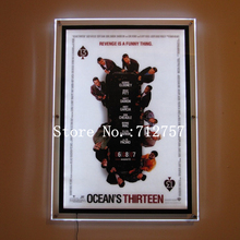 "Home Movie Theater Wall Mounted decorated Acrylic Movie Poster Frame Led Lighted Box 24""x36"" Ultra Thin Crystal Display Panel"