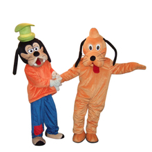 Big pluto and Goofy dog mascot costume for adult advertising mascot animal costume school mascot fancy dress costume free ship(China)
