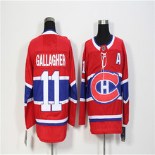 Mens Brendan Gallagher Embroidered Throwback Hockey Jersey Size M-3XL(China)