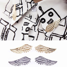 LNRRABC Sale 1 Pair Women Fashion Angel Wings Brooch Collar Pin Brooches Gothic Christmas Ornaments Gift 2 Colors