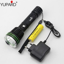 YUPARD tactical Bright Q5 LED Flashlight Lamp High Power Torch sport Camping outdoor+1*18650 rechargeable battery+charger(China)