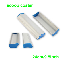 Free shipping 1 pc 24cm (9.5inch) Screen Printing Aluminum Emulsion Scoop Coater Tools Materials