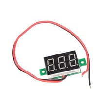 Two Wire Type Mini LCD digital voltmeter ammeter voltimetro DC 2.5-30V Red LED Amp amperimetro Volt Meter Gauge voltage meter DC(China)