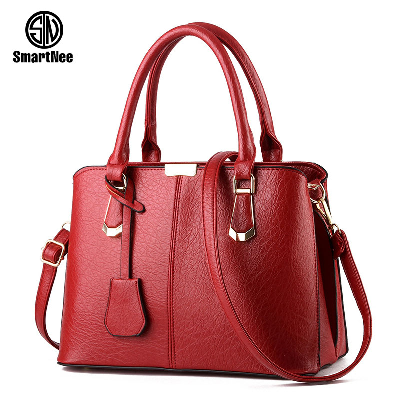 SmartNee suture Boston bag inclined shoulder ladies hand bag women PU leather handbag woman bags handbags women famous brands<br><br>Aliexpress
