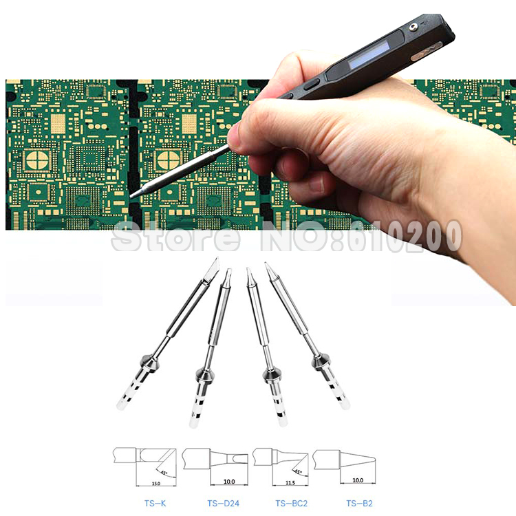 Pen-type MINI Programmable Smart Digital LCD Adjustable Electric soldering iron Soldering station + 4/PCS solder tip<br><br>Aliexpress