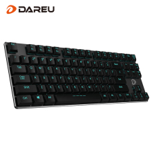 Dareu EK820 87Key Bluetooth LED Backlit Ergonomic Mechanical Gaming Keyboard Gamer Wired USB For Laptop Computer Phone Tablet(China)