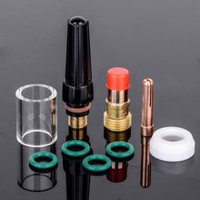 10pcs 1.6mm Welding Torch Gas Lens Glass Cup Kit For Tig WP-17/18/26 1/16'' Welder Accessories(China)