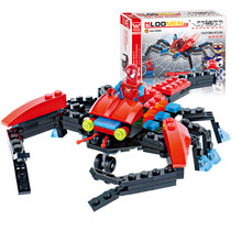 New Arrival 126pcs/set Spider Fighter Building Blocks Toys Children Puzzle Educational Action Figure Toy Kids Gifts(China)