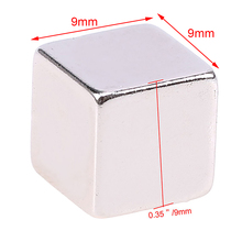 5/10pcs N52 Neodymium Magnets Large Strong Block Square Cube Rare Earth Magnets Mayitr NdFeB Magnetic Materials 9*9*9mm