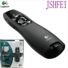 JSHFEI Laser Pointer  Logitech R400 Wireless Presenter R400 wholesale& with bag  IR PPT Presenter 650nm Wholesale Lazer