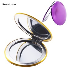 "1PC Folding Make Up Compact Mirror 3x Magnifying Glass Double Faced Pocket Mirrors Gifts 7x7cm(x2 7/8""x2 7/8"")"