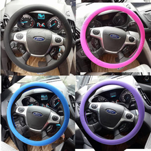 Soft Silicone Steering Wheel Cover Shell Skidproof Odorless Eco Friendly for VW Audi Nissan Peugeot Mazda Toyota Lexus Honda Kia(China)