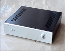 QUEENWAY HIFI AUDIO A4 full balance Power Amplifier AMP Super heat radiation system 250W * 2 4~8ohm Double OMRON Relays