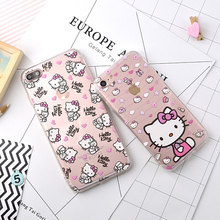 Fashion Phone Case For iPhone 7 7 Plus 6 6s Plus Cute Cartoon Hello Kitty Series Back Shell Soft TPU Cover For iPhone 7 Case