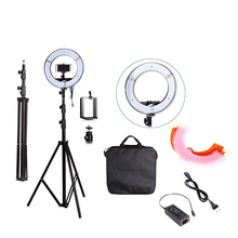 EMS Or DHL Photo Studio lighting 180 LED Ring Light 5500K Camera Lighting Photography Dimmable Ring Lamp With Photo Tripod