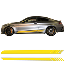 Buy 2pieces Mercedes Benz C200 C250 C300 AMG Edition 1 C63 Coupe W205 YELLOW/BLACK/5D CARBON Side Skirt Stripes Decal Stickers for $27.53 in AliExpress store