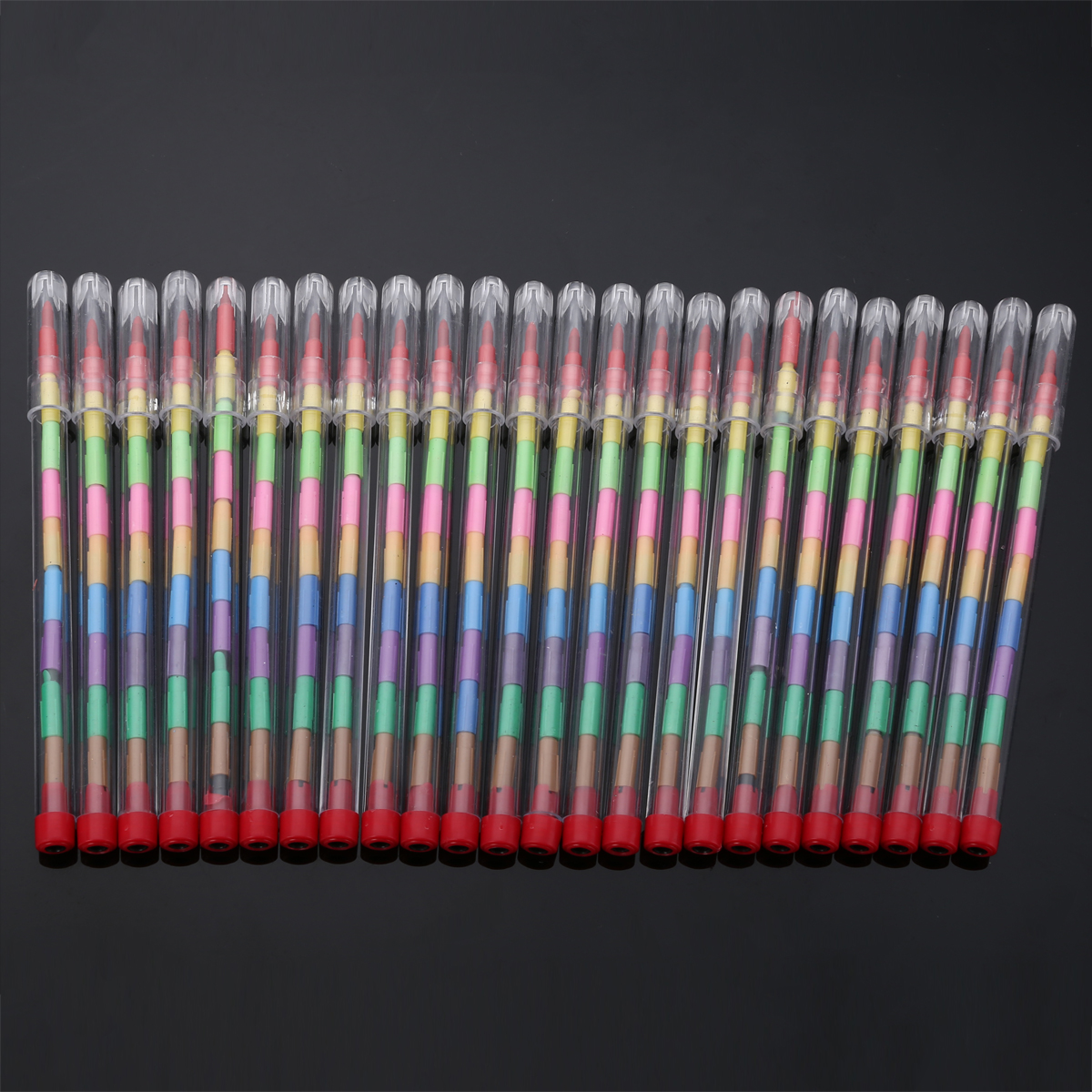 24pcs/set Funny Children Kids Painting Pencil Pop up Stacker Pencils Birthday Party Loot Bag Fillers Drawing Pen Set Party Gifts