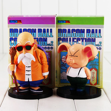 2pcs/lot Dragon Ball Anime Master Roshi Kame Sennin & Oolong Boxed PVC Action Figure Collection Model Dolls Toy For Kids