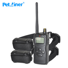 Petrainer 900-2 1000M 100LV Electric remote collar 2 Dogs Pet Training trainer with LCD Display Shock Vibrate Products