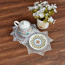 HOT Cotton Crochet tablecloth white Table cloths towel lace DIY round Tablecloths Covers doilies home kitchen wedding decoration