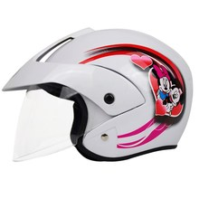 2017 New Hot High Quality Cartoon Children Motorcycle Helmets with Goggle and Scarf 4 Colors Boy Girl Protective Cycling Casque