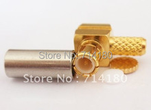 1pc  MCX Crimp Male Right  Angle RF Connector For LMR100  RG316 RG174 Wholesale  Fast Shipping