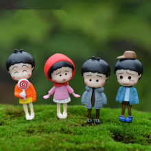 Free shipping / 3 d resin Cute doll resin micro landscape decoration/lovely furniture furnishing articles mix 10PCS/lot