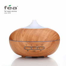 FEA Intelligence Essential Oil Diffuser Wood Grain Ultrasonic Aroma Cool Mist Humidifier 300ml for Office Bedroom Baby Room