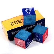 Cuesoul 3pcs Pool Cue Chalk Snooker Billiard Chalk Oil Dry Billiard No-slip Chalk Blue Color High Quality(China)