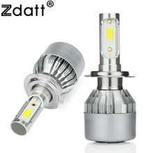 Zdatt 2Pcs H7 Led Bulb 80W 8000Lm Headlights H1 H8 H11 HB3 9005 HB4 9006 Auto Led Lamp Car Led Light White 12V Automobiles(China)