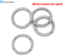 Doreen Box Lovely 500 Stainless Steel Open Jump Rings 8mm Dia. Findings (B10272)(China)
