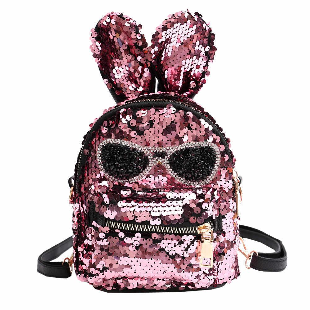 50a31e1faeea Fashion Cute Girls Sequins Shoulder Bag Student Children School Bag Travel  Backpacks Casual style Backpack