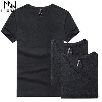 Innersy dos homens cobre t 2017 verão novo modal v pescoço curto manga t shirt homens tendências da moda de fitness t shirt Dos Homens T-shirt verão