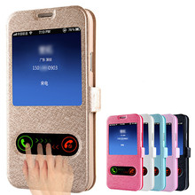For samsung galaxy S3 S4 mini S5 mini S6 edge case Luxury Smart Window View Leather Flip For samsung galaxy S6 edge case Cover