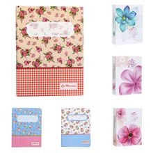 6 inch 100pcs Interstitial Album Flower/Flower Lattice Pattern Large Memory Pictures Storage Hold Case Wedding Photo Album D12