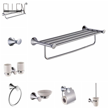 Wall Mounted Bathroom Hardware Set Towel Shelf Towel Holder Toilet Paper Holder Soap Holder Soap Dispenser EKY3400