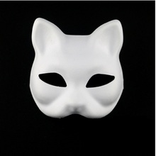 2017 Blank Face Mask White Pulp Paper Mask Male And Female Children Dance Painting White Embryo Hand Painted DIY Material FC