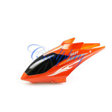 Free Shipping  In Stock 5pcs/Lots Orange Head cover  for Syma S031g 3.5ch Big metal Gyro helicopter