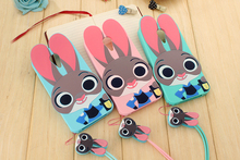 3D Cute Cartoon Judy Rabbit Soft Silicone Shockproof Cover Case For Meizu Meilan M2 Note /M3 Note /MX5 /MX4 Pro + Lanyard  TZ2