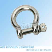 5mm,Bow shackle, stainless steel 316, AISI 316, marine hardware, boat hardware, rigging hardware(China)