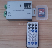 LED IR programmable SD full color controller;support DMX512,TM1812,WS2811,WS2812,etc,(LED built software)(China)