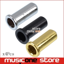 4pcs Electric Bass Guitar String Mounting Ferrules Bushing Bass Bridge String retainer Black-Gold-Chrome