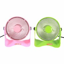 Portable Mini Space Heater Safety Winter Desktop Electric Heating Fan 2 Colors(Hong Kong)