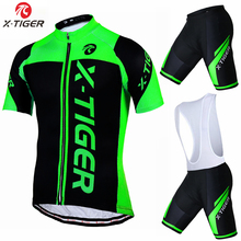 X-Tiger 100% Polyester Breathable Cycling Jersey set 2017 New Mountian Bicycle Sportswear Bike Clothing Maillot Ropa Ciclismo