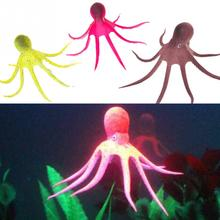 Artificial Octopus Aquarium Decoration Aquarium Fish Tank Landscaping Decor Glowing Effect Animal Plants Water Ornament(China)