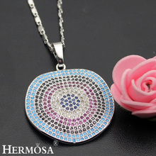 Crazy Fashion Nano Jewelry 925 Sterling Silver Pendant Necklace 17'' Party Hot Wedding Special Gift(China)