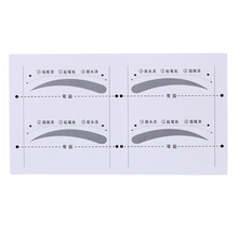 8 Pairs DIY Eyebrow Stencils Shaping Kit Eyebrow Template Stickers Grooming Shaping Bend Make Up Tools Cosmetic 2017 Newest