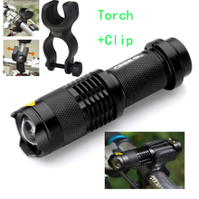 1200lm bike light Q5 3 Modes Zoom Flashlight Mini Torch LED Cycling Bike Bicycle Front Head Light With Mount