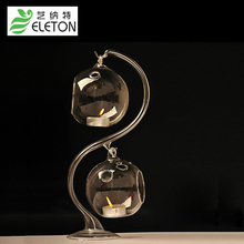 European glass candlestick wedding Home Furnishing creative ornaments novelty accessories wholesale Wedding Bar Decor gift(China)